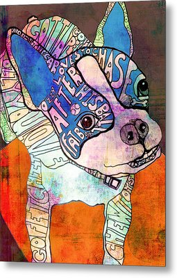 Ozzy The Wonder Dog Metal Print by Robin Mead