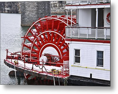 Paddle Wheel Metal Print by Tom and Pat Cory