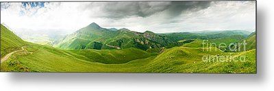 Panoramic Green Mountains Metal Print by Boon Mee