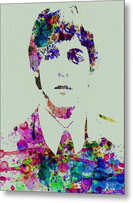 Paul Mccartney Watercolor Metal Print by Naxart Studio