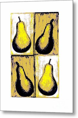 Pears- Warhol Style Metal Print by C Fanous
