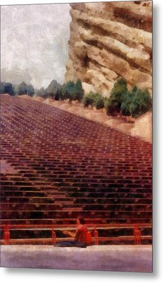 Playing At Red Rocks Metal Print by Michelle Calkins