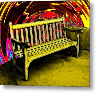 Please Be Seated Metal Print by Wendy J St Christopher