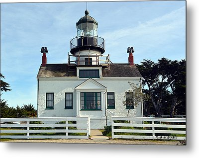 Point Pinos Lighthouse Metal Print by Barbara Snyder