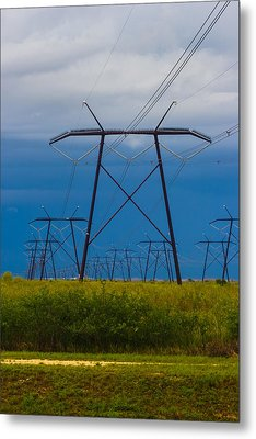 Power Towers Metal Print by Ed Gleichman
