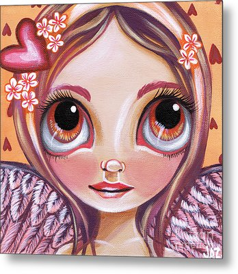Raining Hearts Metal Print by Jaz Higgins