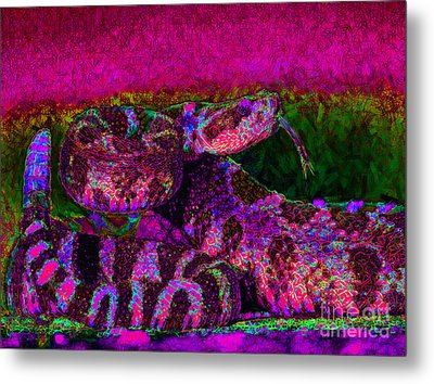 Rattlesnake 20130204m80 Metal Print by Wingsdomain Art and Photography
