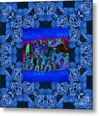 Rattlesnake Abstract Window 20130204m180 Metal Print by Wingsdomain Art and Photography