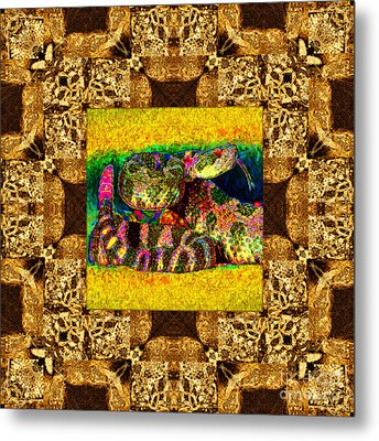Rattlesnake Abstract Window 20130204p0 Metal Print by Wingsdomain Art and Photography