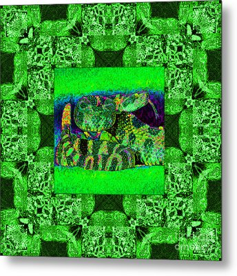 Rattlesnake Abstract Window 20130204p75 Metal Print by Wingsdomain Art and Photography