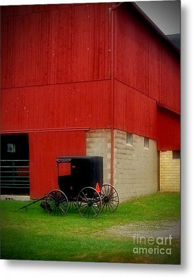 Readying The Buggy Metal Print by Desiree Paquette