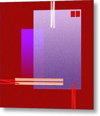 Red Abstract 2 Metal Print by Anil Nene
