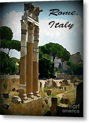 Rome Italy Poster Metal Print by John Malone