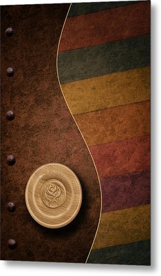 Rose Button Metal Print by Tom Mc Nemar