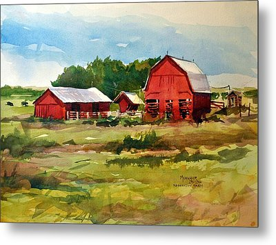 Rural Barns Metal Print by Spencer Meagher