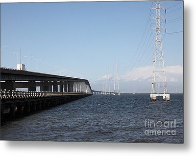 San Mateo Bridge In The California Bay Area 5d21893 Metal Print by Wingsdomain Art and Photography
