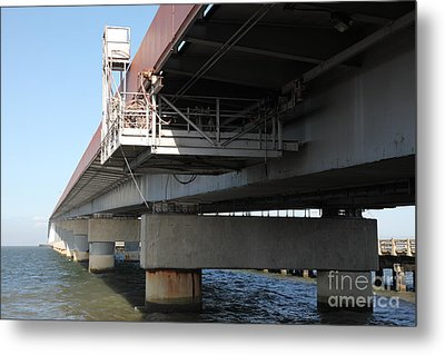 San Mateo Bridge In The California Bay Area 5d21907 Metal Print by Wingsdomain Art and Photography
