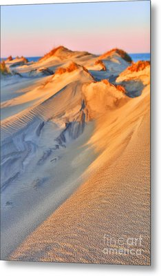Sand Dune Sunset - Outer Banks Metal Print by Dan Carmichael