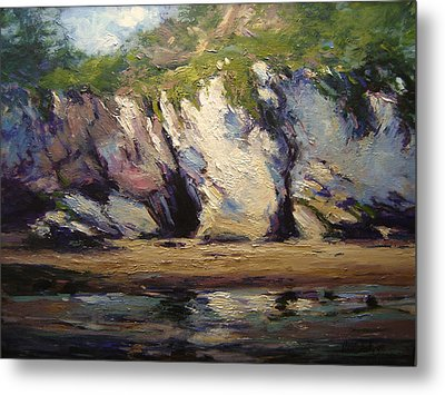 Seacaves At Pismo Beach Metal Print by R W Goetting