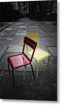 Side By Side Metal Print by Russell Styles