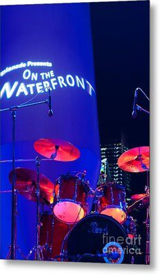 Singapore Drum Set 02 Metal Print by Rick Piper Photography