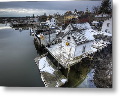 Snow In The South End Metal Print by Eric Gendron