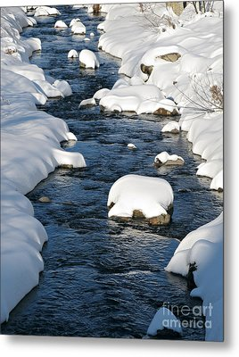 Snowy River View Metal Print by Kiril Stanchev