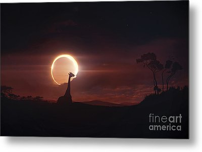 Solar Eclipse Over Africa Metal Print by Tobias Roetsch