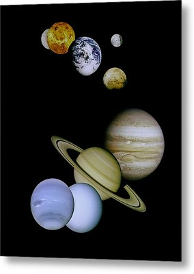 Solar System Montage Metal Print by Movie Poster Prints