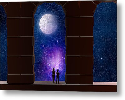 Somewhere In Time And Space Metal Print by Carol and Mike Werner