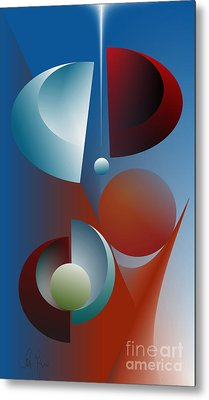 Split Cycle Metal Print by Leo Symon