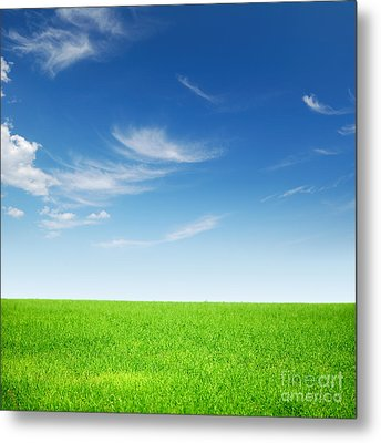 Spring Green Landscape Metal Print by Boon Mee