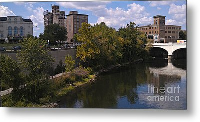 St. Joseph River Panorama Metal Print by Anna Lisa Yoder