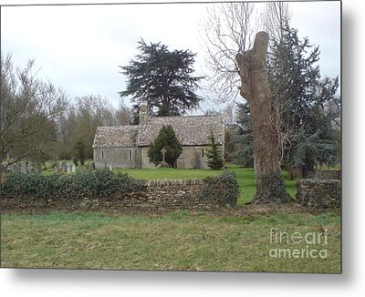 St Mary Church Ampney Metal Print by John Williams
