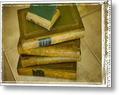 Stack Of Antique Books Metal Print by Don Hammond