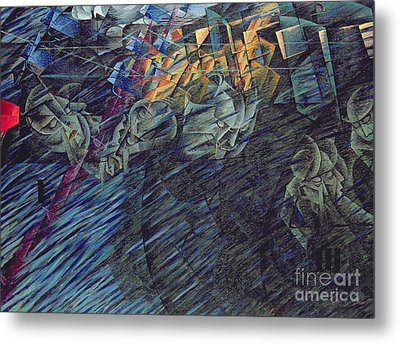 States Of Mind    Those Who Go Metal Print by Umberto Boccioni