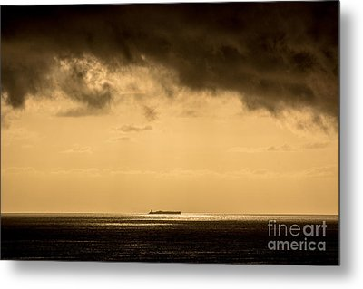 Steaming Thru The Sunrise Metal Print by Rene Triay Photography