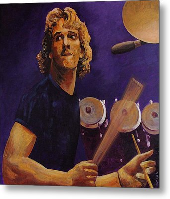 Stewart Copeland - The Police Metal Print by John  Nolan