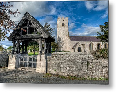 St.marcellas Entrance Metal Print by Adrian Evans