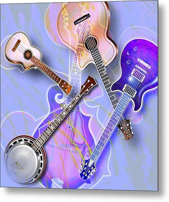 Stringed Instruments Metal Print by Design Pics Eye Traveller
