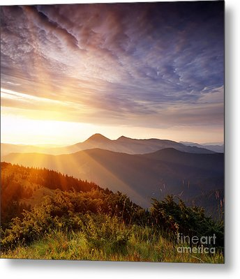 Summer Landscape Metal Print by Boon Mee