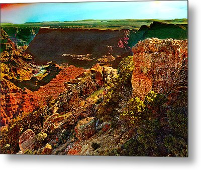 Sunrise Lipan Point Grand Canyon Metal Print by Bob and Nadine Johnston