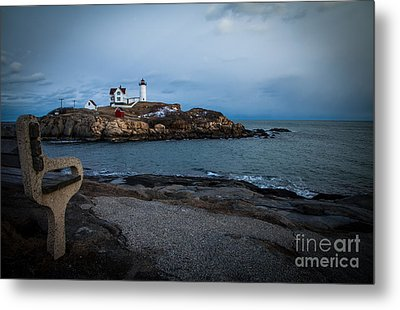 Sunset At Nubble Light House Metal Print by Sue OConnor