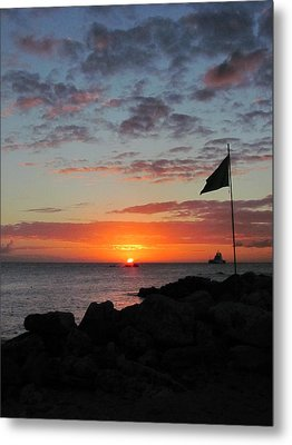 Sunset Sky Metal Print by Kerry Lapcevich