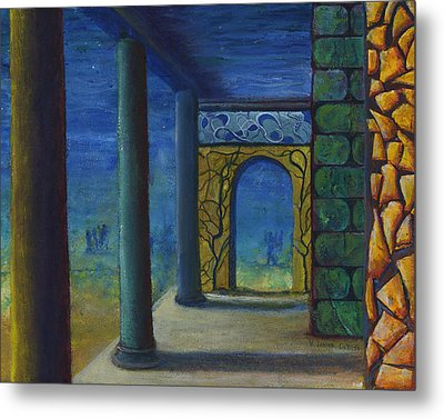 Surreal Art With Walls And Columns Metal Print by Lenora  De Lude