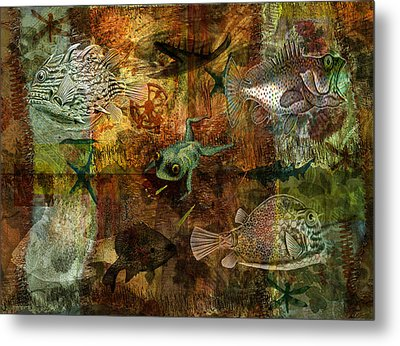 Swimming Against The Tide Metal Print by Sarah Vernon