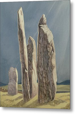 Tall Stones Of Callanish Isle Of Lewis Metal Print by Evangeline Dickson
