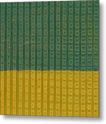 Teal And Mustard Metal Print by Michelle Calkins
