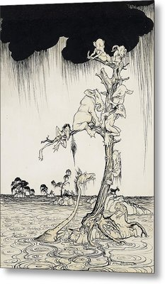 The Animals You Know Are Not As They Are Now Metal Print by Arthur Rackham