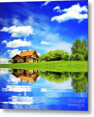 The Beautiful House Metal Print by Boon Mee